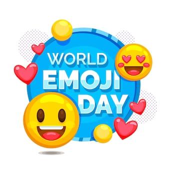 Szczegółowa ilustracja światowego dnia emoji