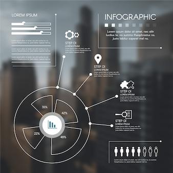 Szczegółowa infografika biznesowych ze zdjęciem