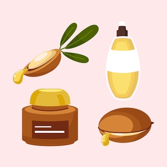 Szczegółowa kolekcja elementów olejku arganowego
