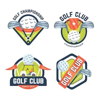 Szczegółowa kolekcja logo golfa
