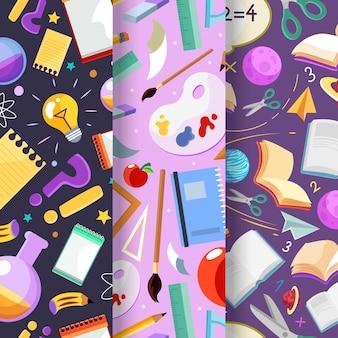 Szczegółowa kolekcja wzorów z powrotem do szkoły
