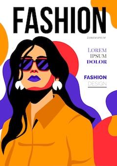 Szczegółowa okładka magazynu o modzie