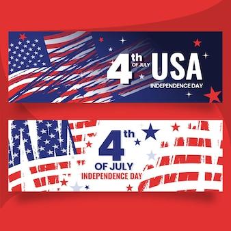 Szczegółowe 4 lipca - zestaw banerów na dzień niepodległości