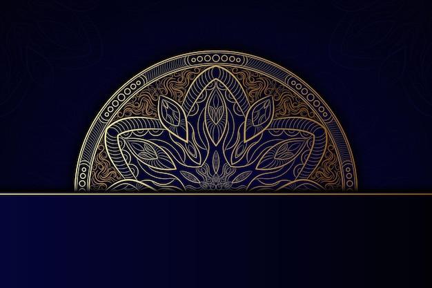 Szczegółowe ciemne tło mandali