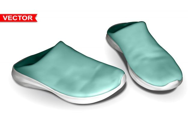 Szczegółowe graficzne fotorealistyczne gumowe buty domowe