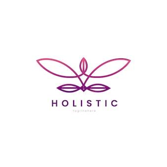 Szczegółowe holistyczne logo z hasłem