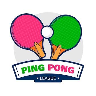 Szczegółowe logo do tenisa stołowego