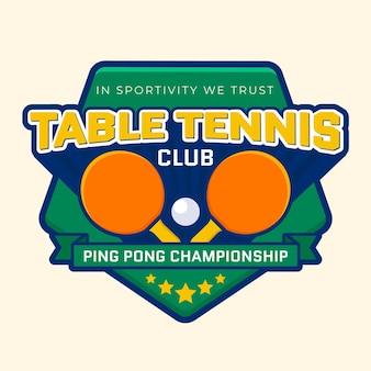 Szczegółowe logo klubu tenisa stołowego