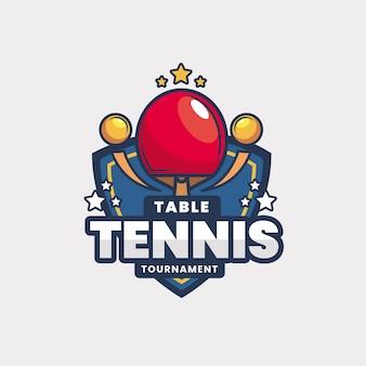 Szczegółowe logo turnieju tenisa stołowego