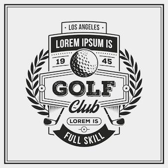 Szczegółowe logo vintage golfa