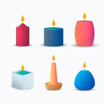 Szczegółowe opakowanie świec zapachowych