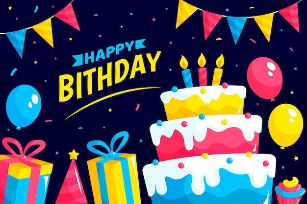 Szczegółowe tło urodziny
