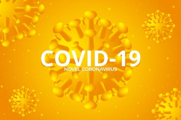 Szczegółowe żółte tło koronawirusa