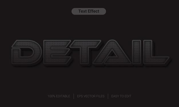 Szczegółowo efekt stylu tekstowego kolor motywu czarny kolor