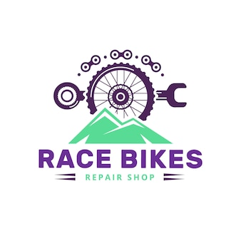 Szczegółowy mechanizm szablonu logo roweru