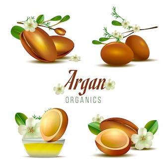 Szczegółowy pakiet elementów olejku arganowego