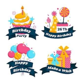 Szczegółowy pakiet odznak urodzinowych