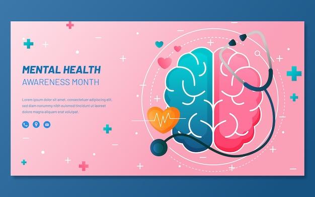 Szczegółowy post na facebooku dotyczący zdrowia psychicznego