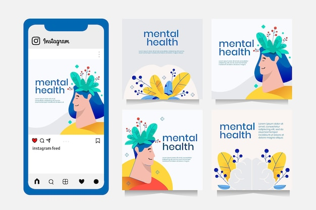 Szczegółowy post na instagramie dotyczący zdrowia psychicznego