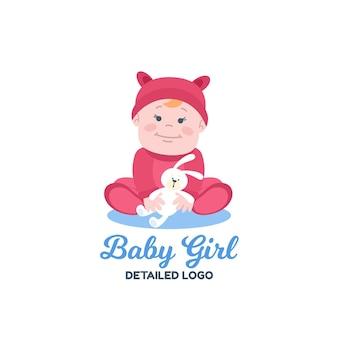 Szczegółowy szablon logo dziecka