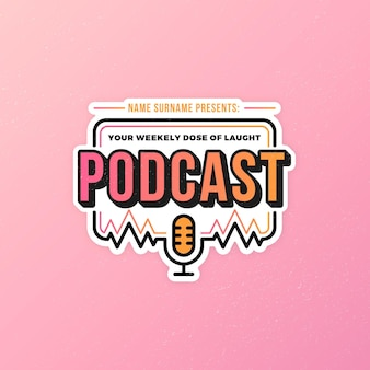 Szczegółowy szablon logo podcastu