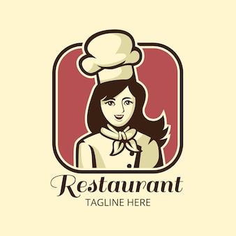Szczegółowy Szablon Logo Szefa Kuchni Darmowych Wektorów