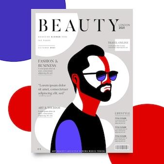 Szczegółowy szablon okładki magazynu