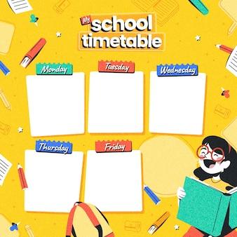 Szczegółowy szablon planu lekcji z powrotem do szkoły