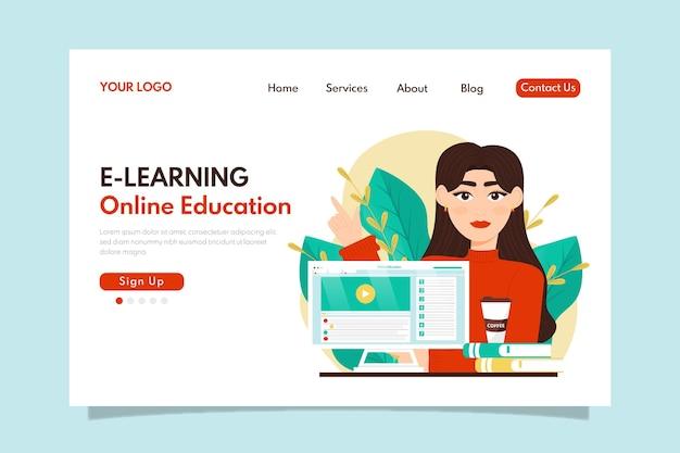 Szczegółowy szablon strony docelowej do nauki online