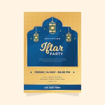 Szczegółowy szablon zaproszenia iftar