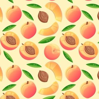 Szczegółowy wzór brzoskwini