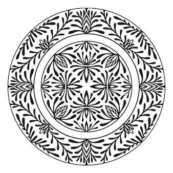 Szczegółowy zaokrąglony ornament mandali