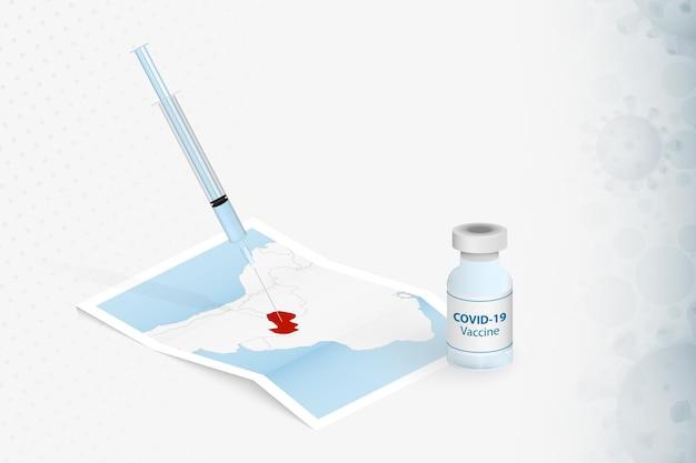 Szczepienia paragwaju, zastrzyk ze szczepionką covid-19 na mapie paragwaju.