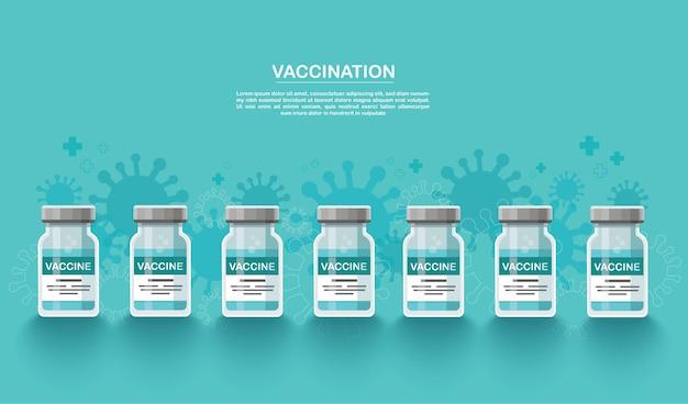 Szczepionka. koncepcja szczepień.