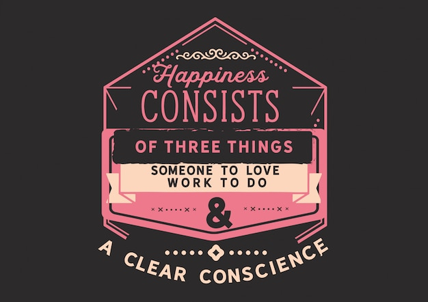 Szczęście składa się z trzech rzeczy