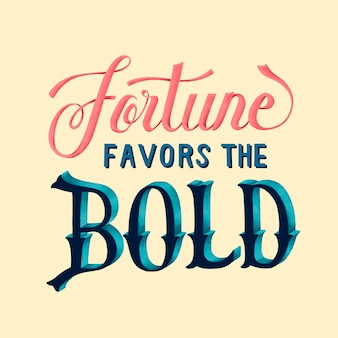 Szczęście sprzyja pogrubionemu projektowi typografii