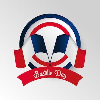 Szczęśliwa bastille dnia tła ilustracja. ilustracja francuski święto narodowe
