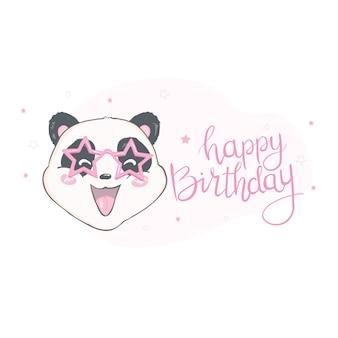 Szczęśliwa birthray panda ilustracja