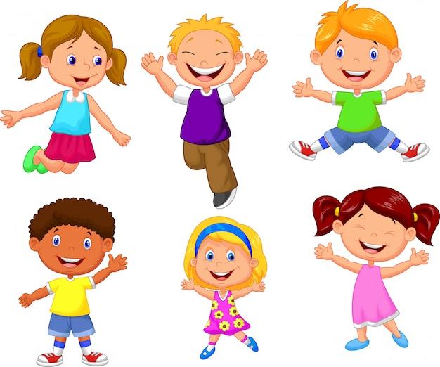 Szczęśliwa dzieci kreskówka