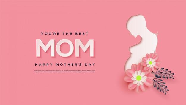 Szczęśliwa dzień matki ilustracja