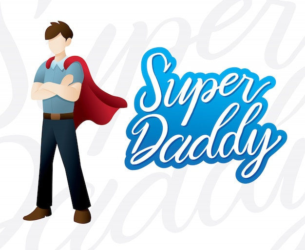 Szczęśliwa dzień ojca ilustracja