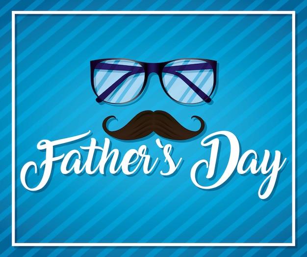 Szczęśliwa dzień ojca karta z okularami