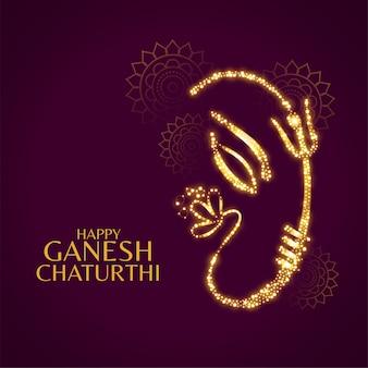 Szczęśliwa ganesh chaturthi piękna karta