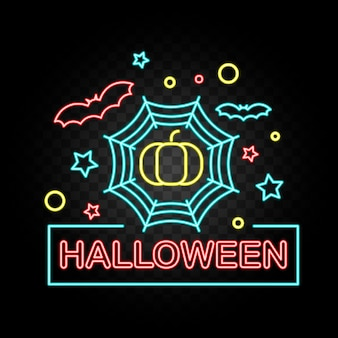 Szczęśliwa halloween party neon sign