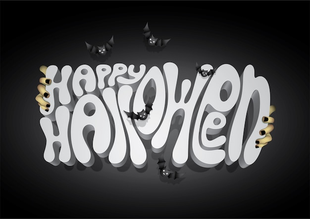 Szczęśliwa halloweenowa chrzcielnica, halloweenowy tło.