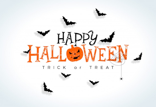 Szczęśliwa halloweenowa ilustracja