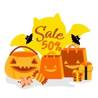 Szczęśliwa halloweenowa sprzedaż.