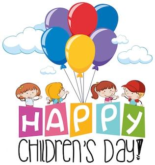 Szczęśliwa ikona dzień dzieci