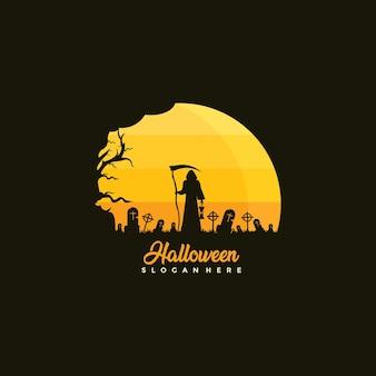 Szczęśliwa ilustracja projektu szablonu halloween