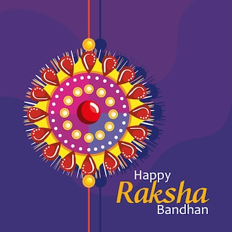 Szczęśliwa karta bandhan raksha z opaską